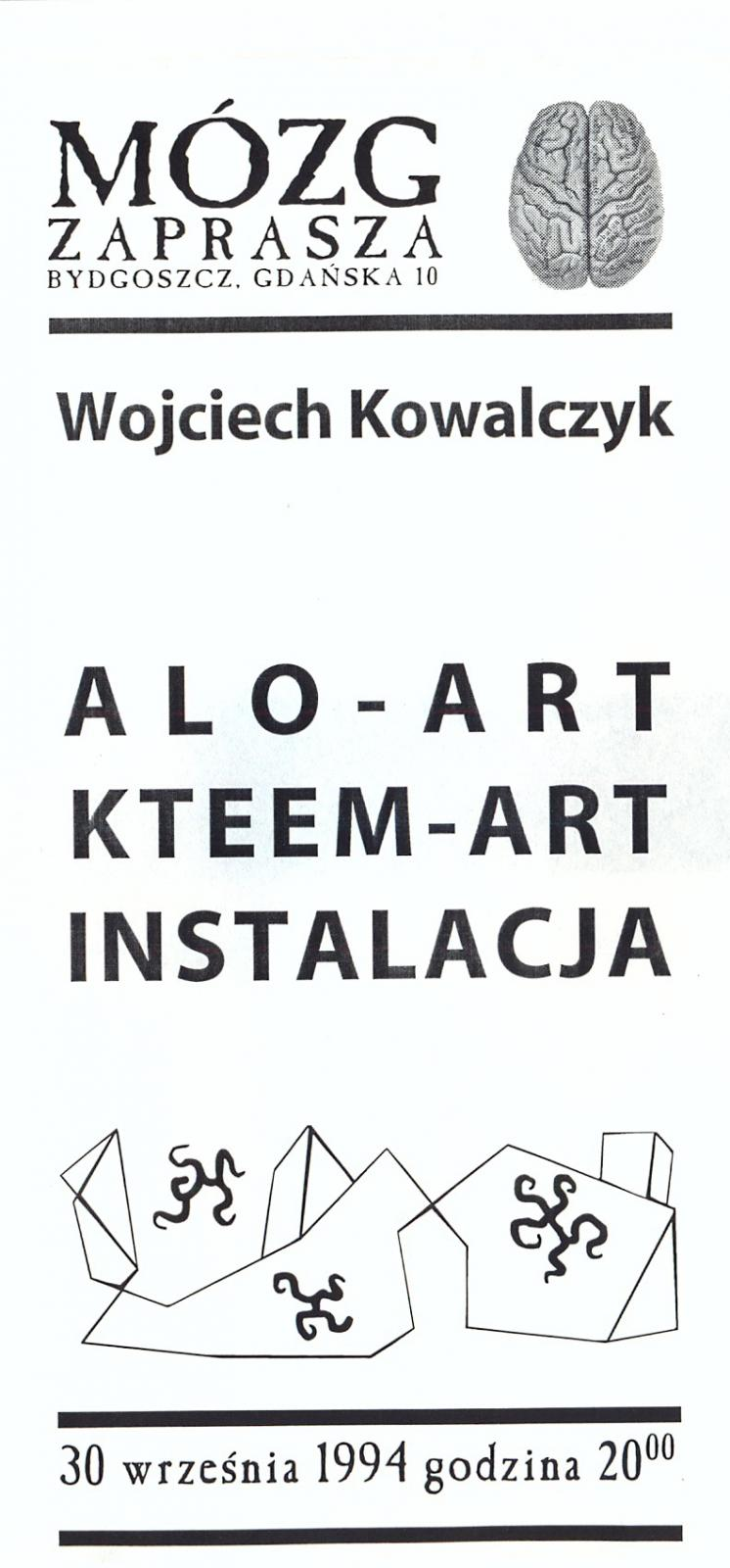 "Wojciech Kowalczyk ""Alo-Art"" ""Kateem-Art"""