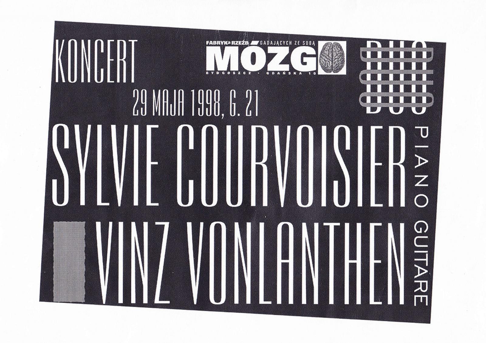 Sylvie Courvoisier & Vinz Vonlanthen (Szwajcaria) - koncert