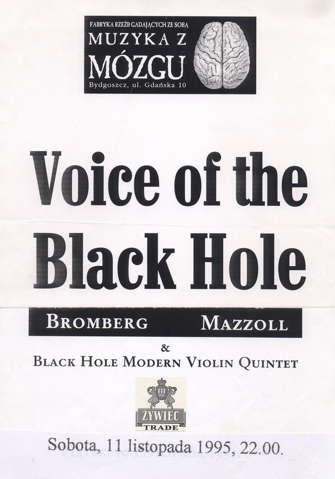 Voice of the Black Hole: Bromberg & Mazzoll + Black Hole Modern String Quintet