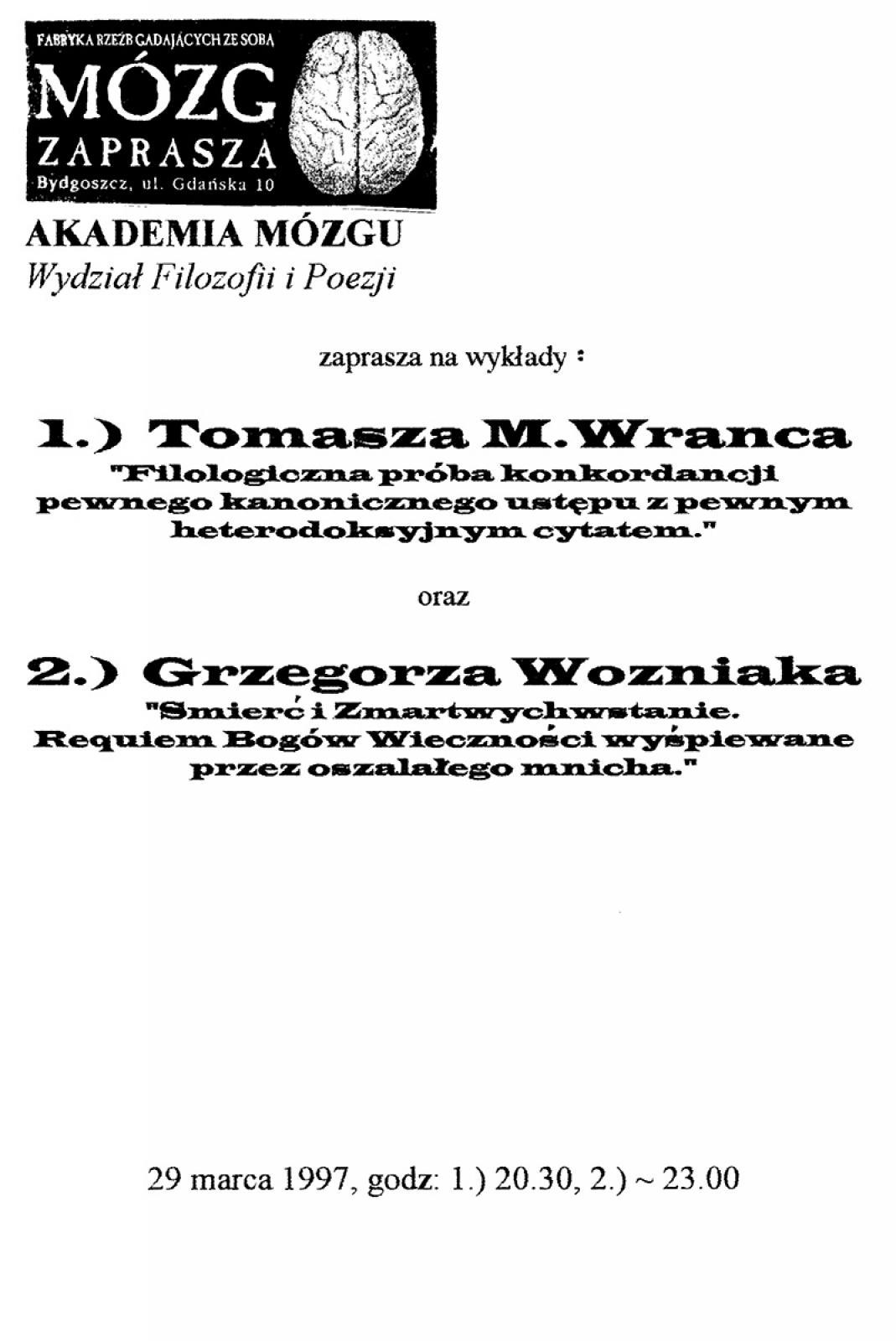 Akademia Mózgu: Zygmunt Maciejowicz / Tomasz M. Wranz /  Grzegorz Woźniak