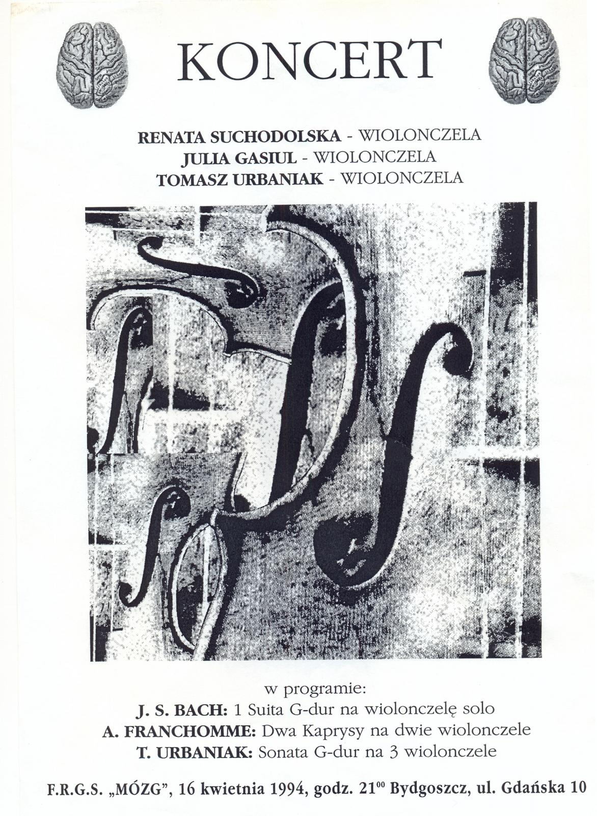 Trio wiolonczelowe: Renata Suchodolska, Julia Gasiul, Tomasz Urbaniak