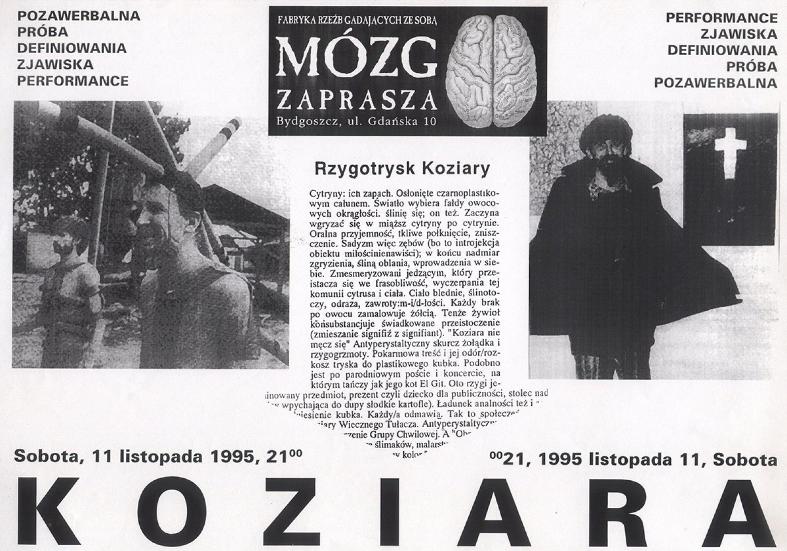 Jarosław Koziara - z cyklu: pozawerbalna próba definiowania zjawiska performance