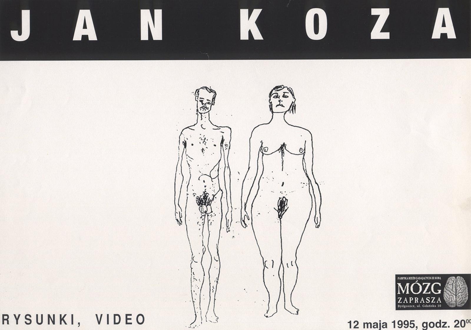 Janek Koza – wystawa rysunków, pokaz video