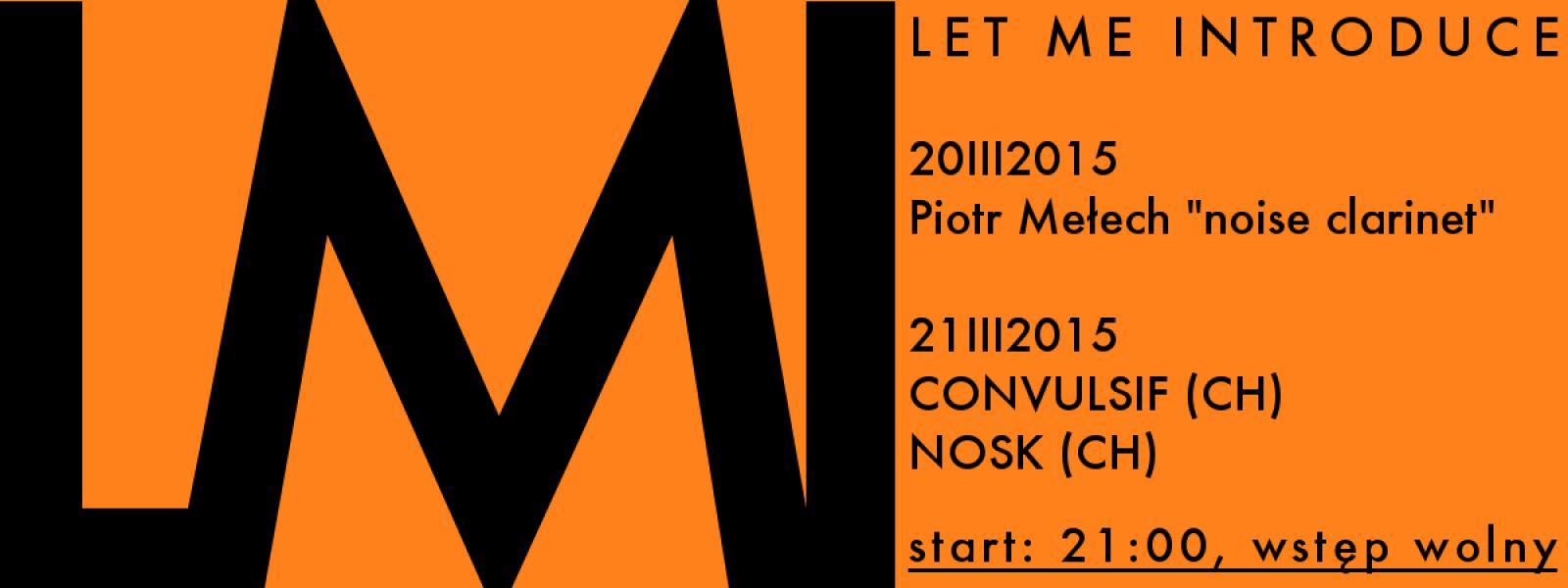Noise clarinet, Piotr Mełech – solo koncert
