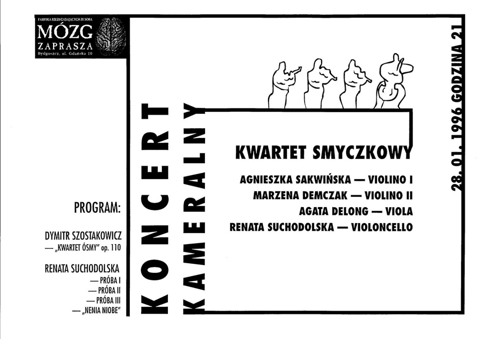 Kwartet smyczkowy: Agnieszka Sakwińska / Marzena Demczak / Agata Delong / Renata Suchodolska