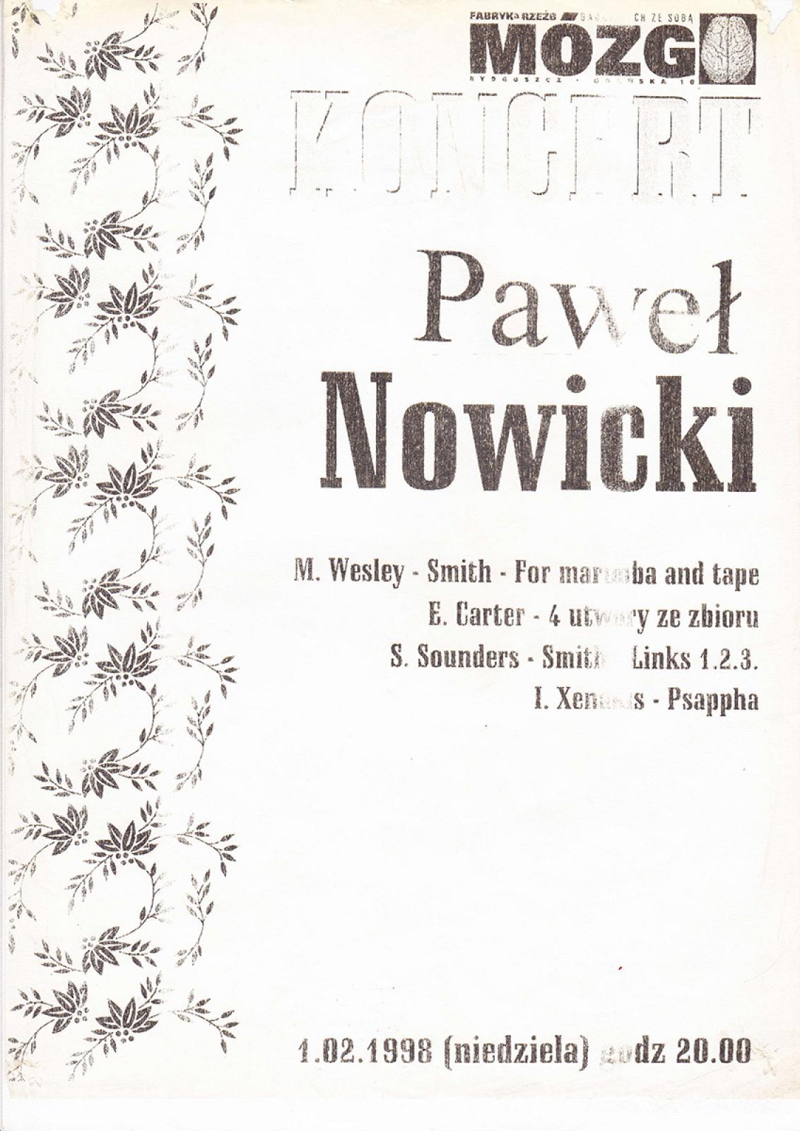 Paweł Nowicki – koncert