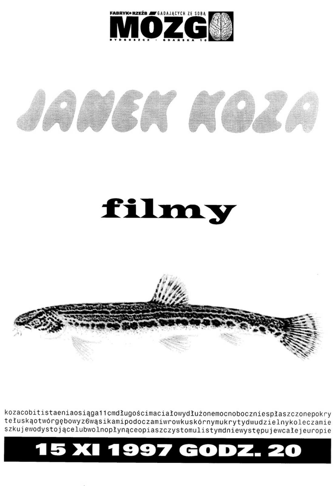 Janek Koza - pokaz filmów