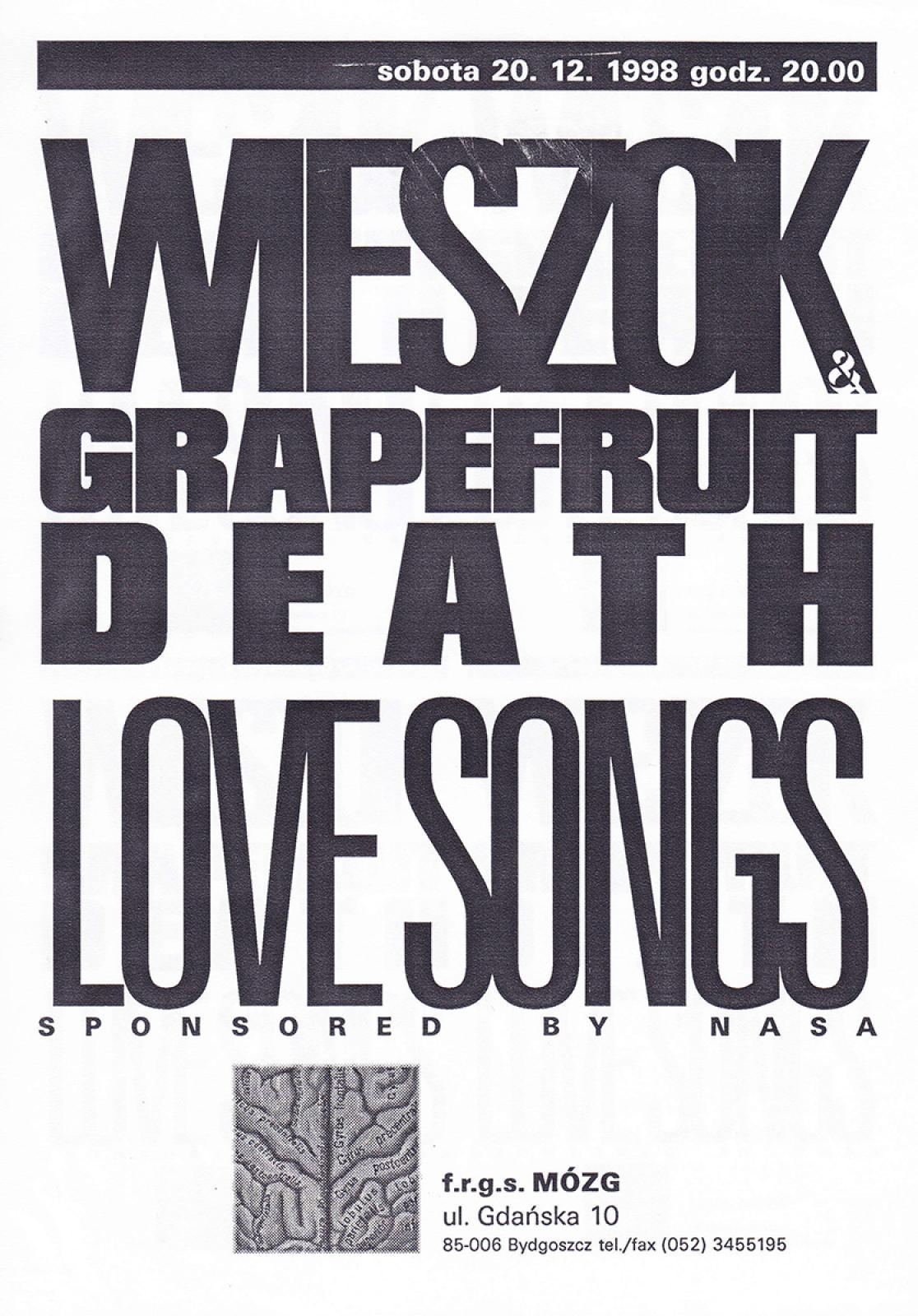 "Wieszok & Grapefruit Death ""Love Songs (sponsored by NASA)"" (Michał Wieszok) – koncert"