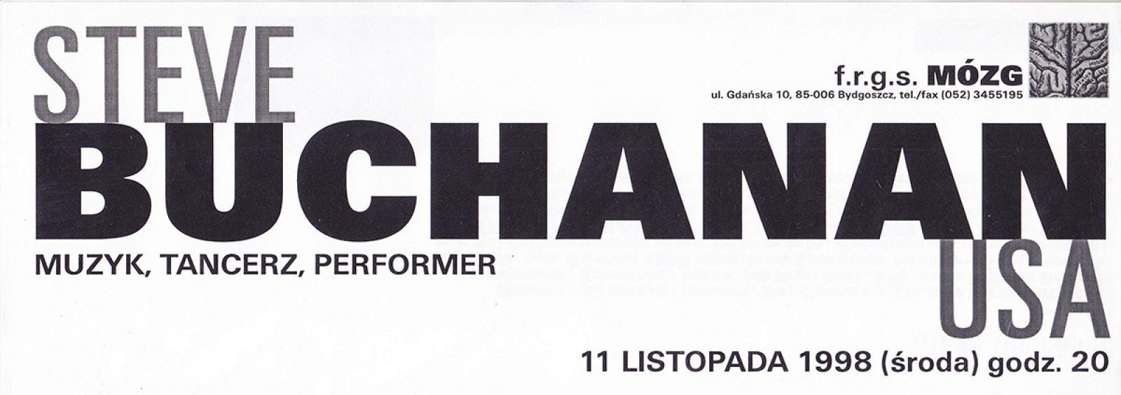 Steven Buchanan - koncert, performance (USA)