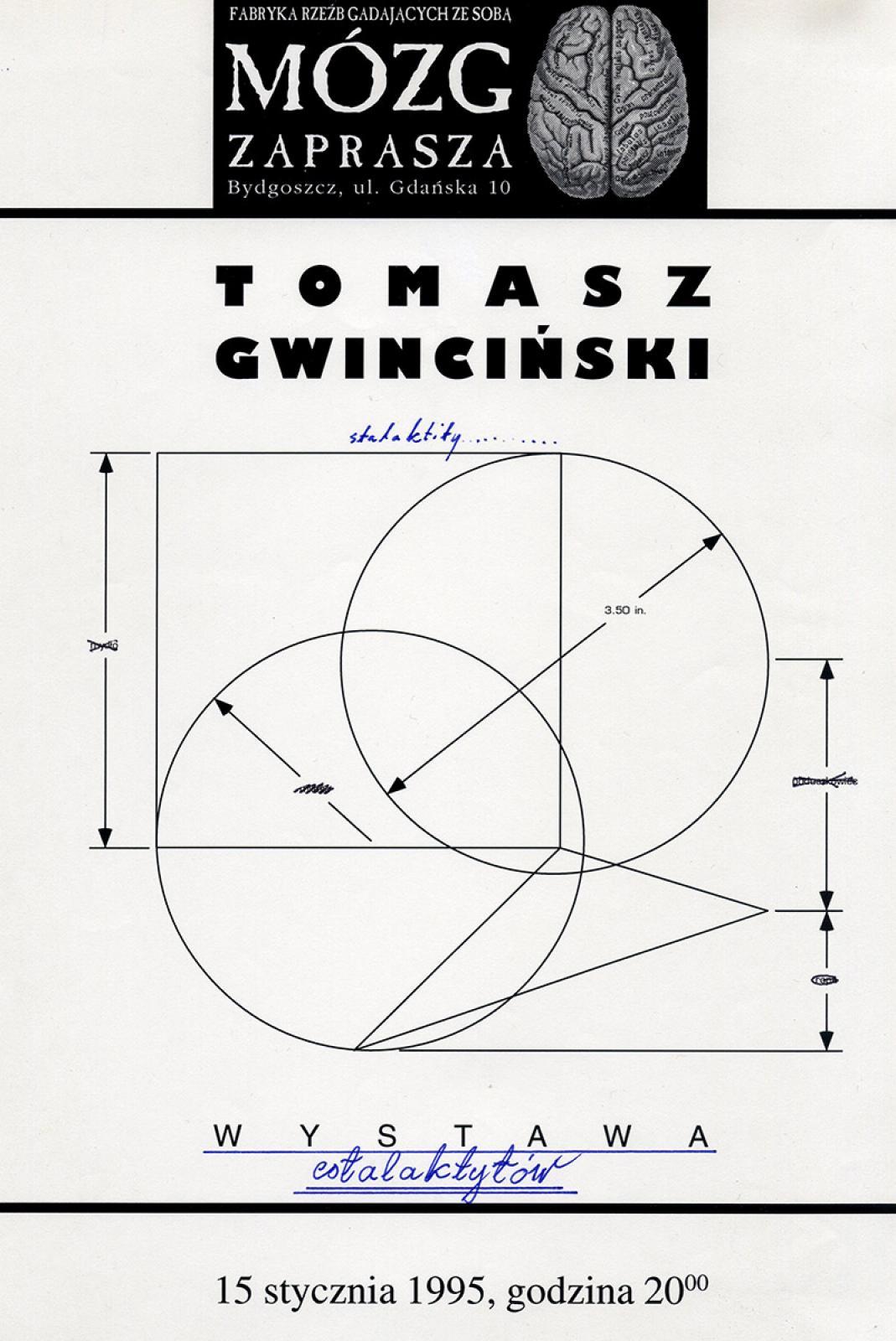 """Tomasz Gwinciński """"Stalaktity"""" - wystawa"""