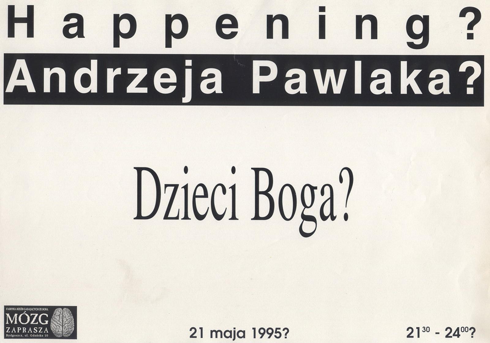 """Andrzej Pawlak """"Dzieci Boga"""""""