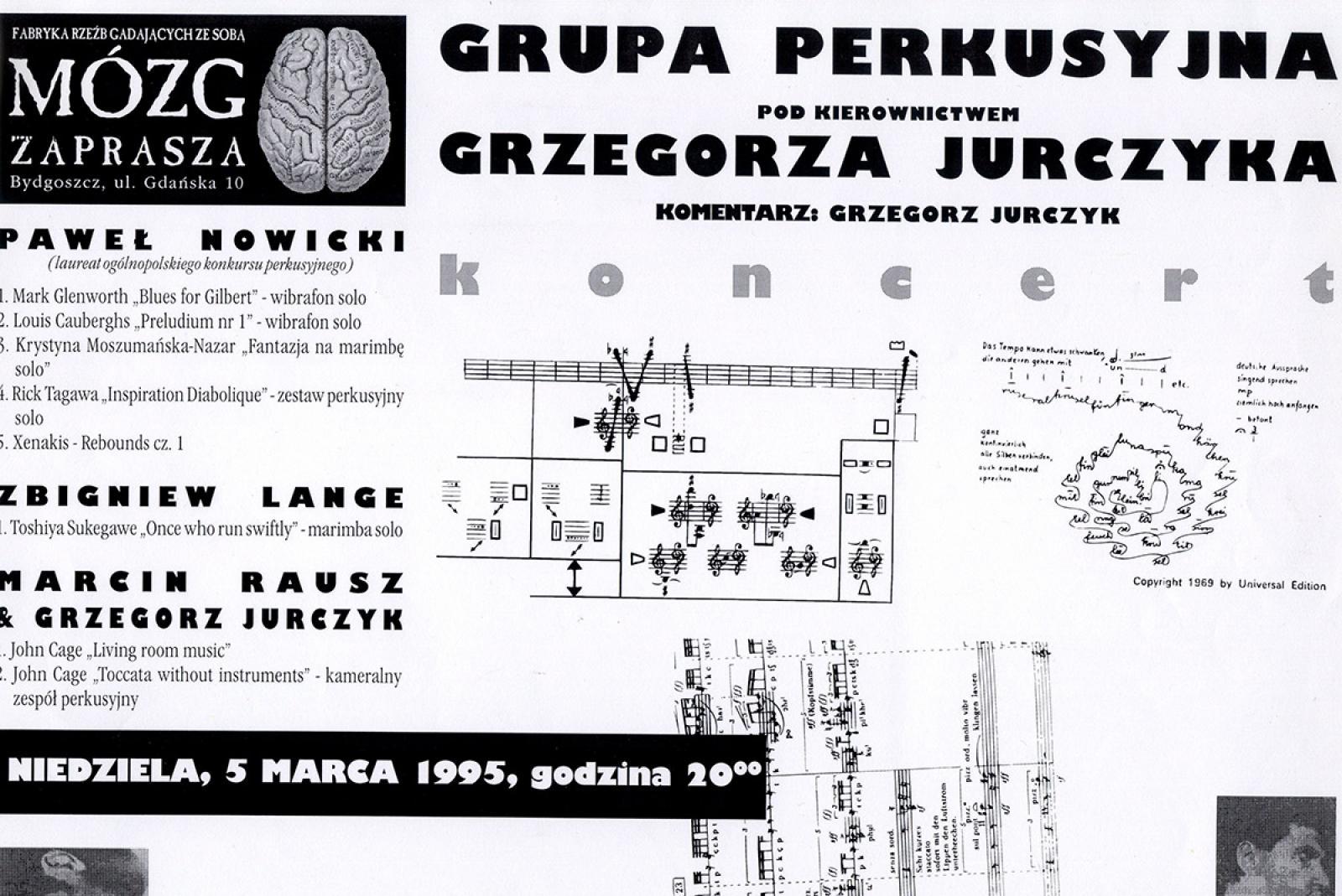 Grupa perkusyjna pod kierownictwem Grzegorza Jurczyka